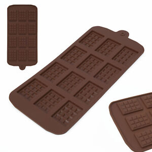 1xSquare-Chocolate-Mold-Bar-Block-Ice-Silicone-Cake-Candy-Sugar-Bake-Mould-Tool