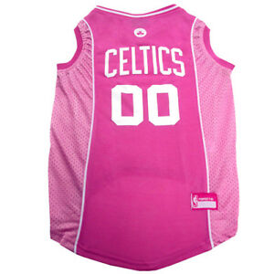 Boston-Celtics-NBA-Officially-Licensed-Pets-First-Dog-Pet-Mesh-Pink-Jersey