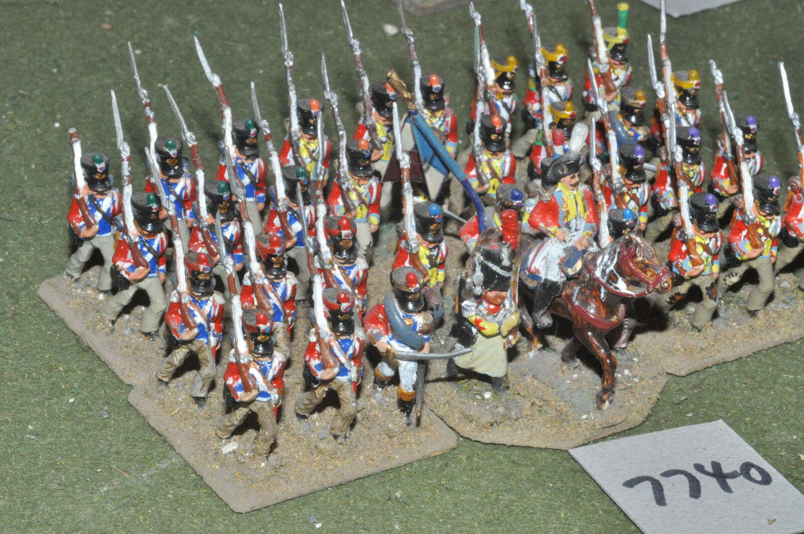 25mm napoleonic   swiss - infantry 36 figs metal painted - inf (7740)