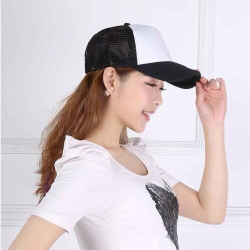Nice Unisex Summer Plain Trucker Mesh Hat Snapback Blank Baseball Cap Sale YjX