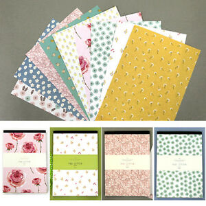 image is loading 63sheets various flower blossom letter lined writing stationery