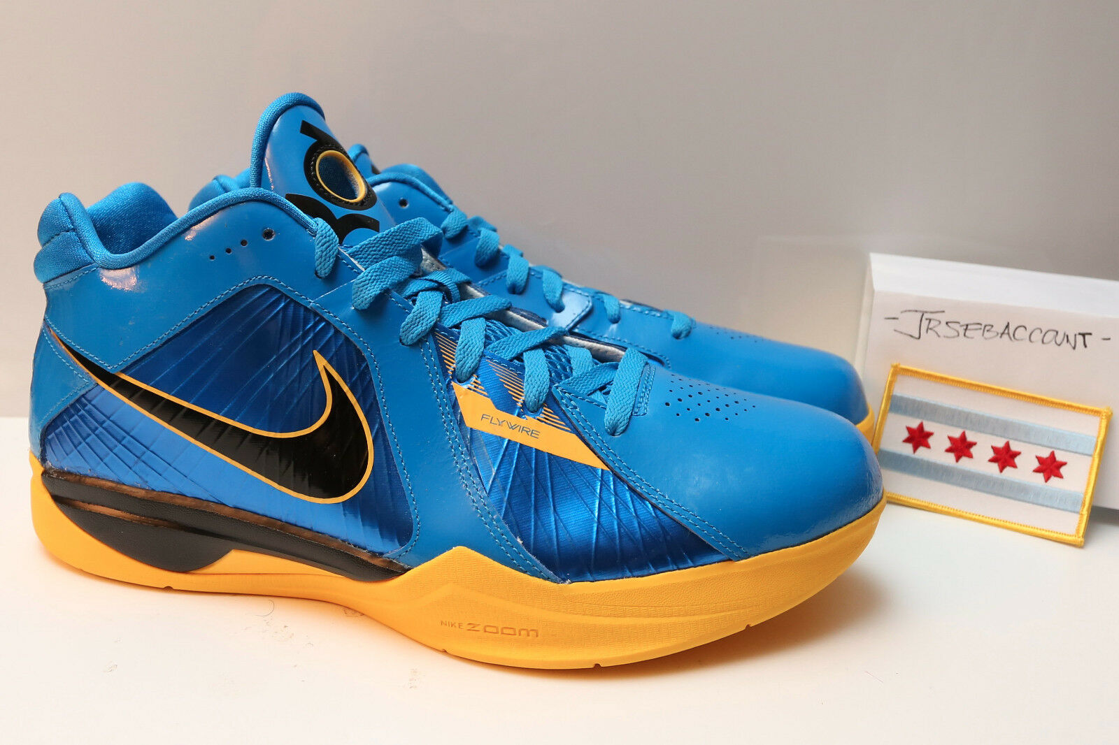 KD III 3 WARRIORS / ENTOURAGE NikeID SIze 11 NEW