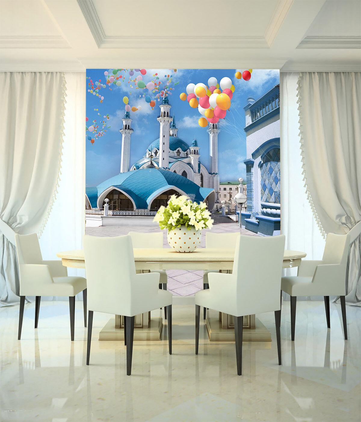 3D Sky Palace 782 Wallpaper Mural Paper Wall Print Wallpaper Murals UK Lemon