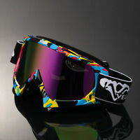 Rainbow Lens Motocross Motorcycle Off Road Dirt Bike Atv Goggles Graffiti Frame