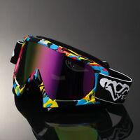 Rainbow Lens Motocross Motorcycle Off Road Dirt Bike Atv Goggles Graffiti Frame