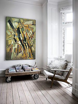 XXL GEMÄLDE BILD 130x100x5 LOFT LEINWAND ABSTRAKT NATURFARBEN PREMIÄR NEU IKEA