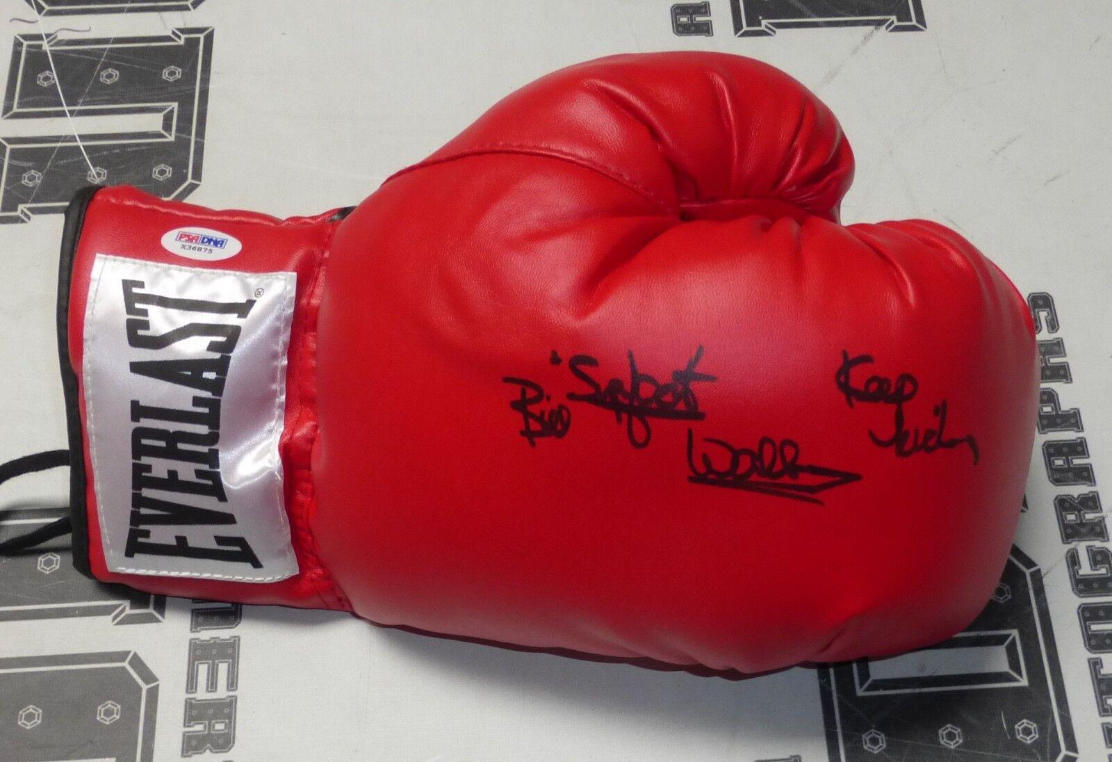 Bill Superfoot Wallace Signé Gant de Boxe PSA   DNA COA UFC 1 Animateur