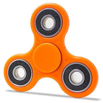 NEW FIDGET FINGER SPINNER HAND FOCUS SPIN STEEL EDC BEARING STRESS TOY Orange