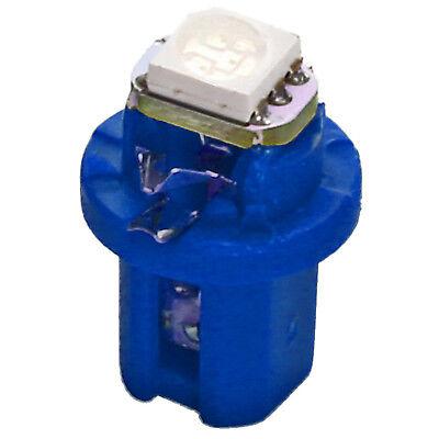 Blaue Tacho LED B8.5d Lampe 3Chip 5050 SMD Tachobeleuchtung BAX10D blau 1