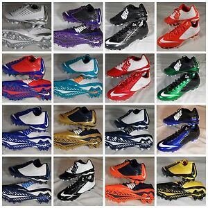 ac4e0c2a4c66 New Nike Vapor Speed Low & 3/4 2 TD Football Cleats Black Gold White ...