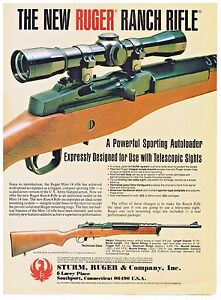 Details about STURM, RUGER MINI-14 RANCH RIFLE For Use With Telescopic  Sights 1984 AD