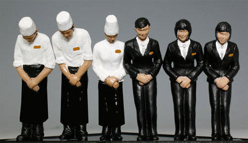"""/"""" Kato 24-282 Model People /""""Dining Car Staff Twilight Express N scale"""