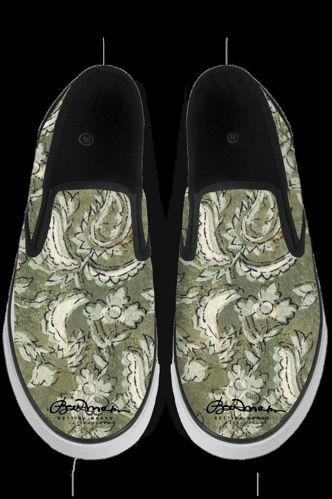 Floral Paisley Slip On Sneakers Sneakers Sneakers 2b62d5