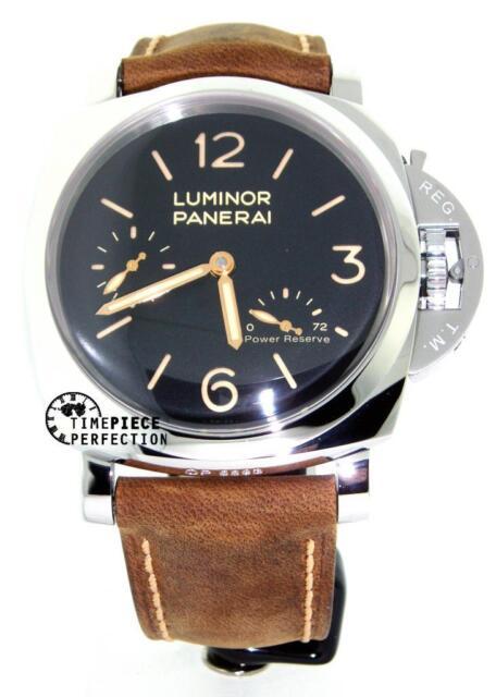 panerai luminor 1950 pam 423 47mm 3 days power reserve brown leather