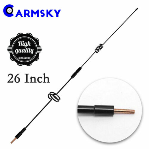 26Inch Antenna Mast For 2000-2019 Toyota Tundra Detachable Spring Steel AM//FM US