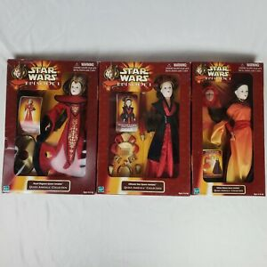 """*NEW SEALED* LOT of 3 Queen Amidala 12"""" Doll Collection, Star Wars Episode 1"""