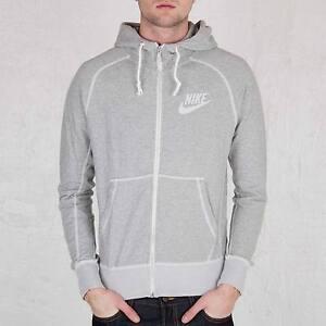 9e838a32e83a Nike Men s Brand New AW77 Grey Zip-Up Vintage Marl Logo Jacket ...