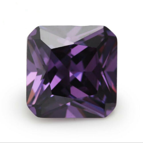 Purple Sapphire 7.55CT 10x10MM Cushion Cut AAAAA VVS Loose Gemstone