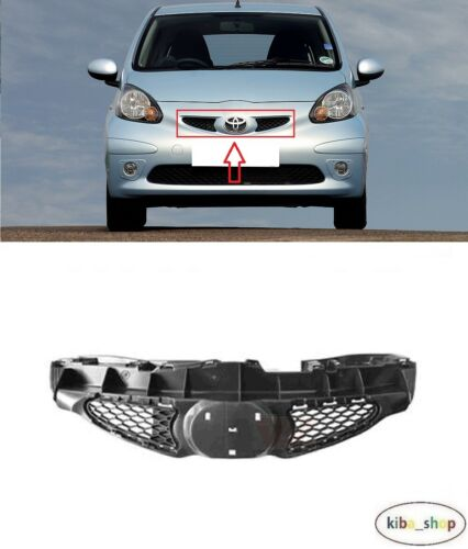 FOR TOYOTA AYGO 2005-2008 NEW FRONT CENTER RADIATOR BLACK GRILL GRILLE