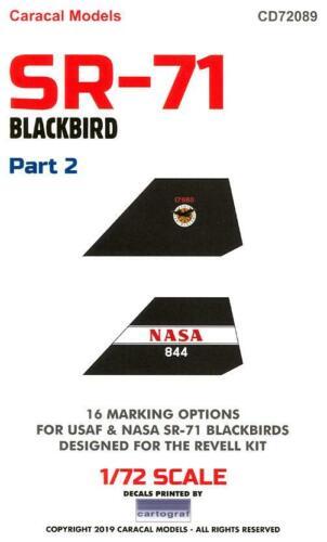 Caracal Decals 1//72 LOCKHEED SR-71 BLACKBIRD Part 2