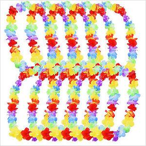 10pc-Hawaiian-Fleur-Leis-Garland-Collier-Fancy-Dress-Party-Hawaii-Beach-RR