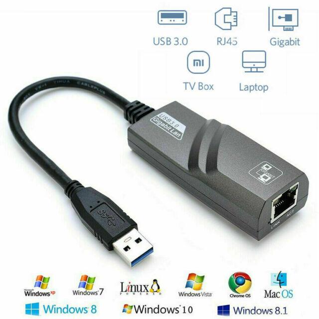 HEASEN USB 3.0 to 10//100//1000 Gigabit RJ45 Ethernet Network LAN Adapter 1000Mbps for PC