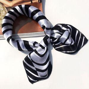 Foulard bandana carré satin 50 cm x 50 cm esprit couture noir et ... c6029086f4d