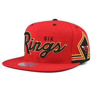 f1ec877af1bf0 Chicago Bulls Mitchell   Ness SIX RINGS Snapback NBA Adjustable Hat ...