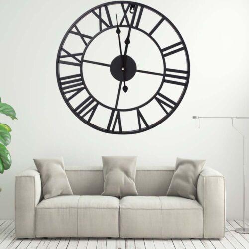 Large Roman Industrial Wall Clock Antique Vintage Metal Skeleton Numeral 40//60CM