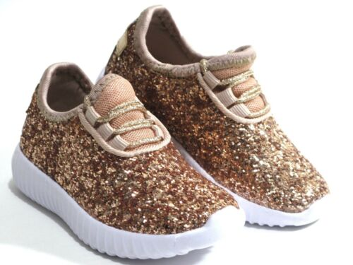 New Baby Toddler Girls Glitter Lace Up Fashion Shoes Comfort Athletic Sneakers