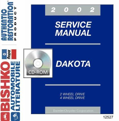 Bishko OEM Digital Repair Maintenance Shop Manual CD for Dodge Truck Dakota 2002