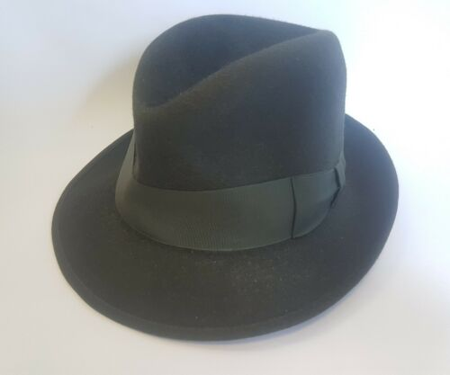 Middle 1900s Borsalino Mens Green Hat Qualita Extr