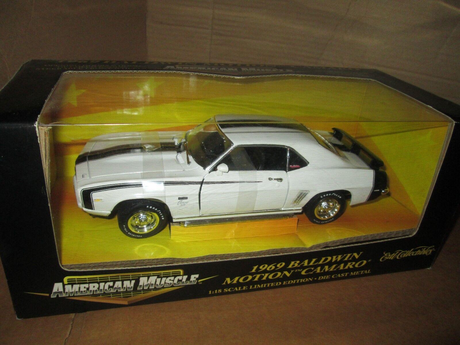 1969  chevy camaro baldwin motion american muscle ertl 1 18  marque célèbre
