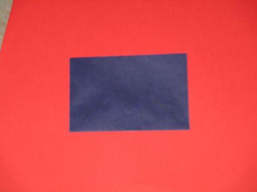NEU 50 Visitenkarten Hüllen 60x90 100g Transparent blau Briefumschläge Kuverts