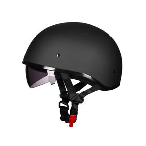 ILM Motorcycle Half Face Helmet With Adjustable D-ring DOT Approved Holiday Gift