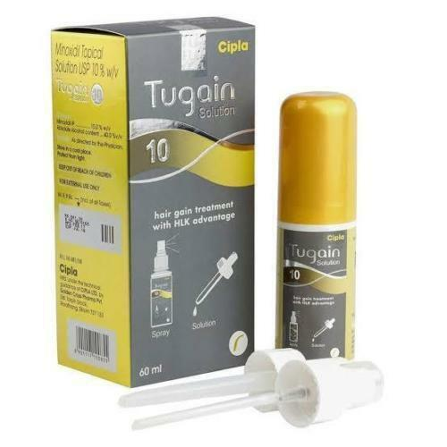 TUGAIN 10 Minoxidil by Cipla Hair Loss Baldness Regrowth Promoter for Men |  eBay