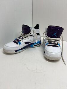 Details about NIKE Air Jordan Boys Shoes 555472-105 Sz 5Y Genuine Authentic White.Blue.Purple