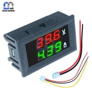 Green Voltmeter Ammeter DC 100V 10A LED Dual Digital Volt Amp Meter Gauge Red