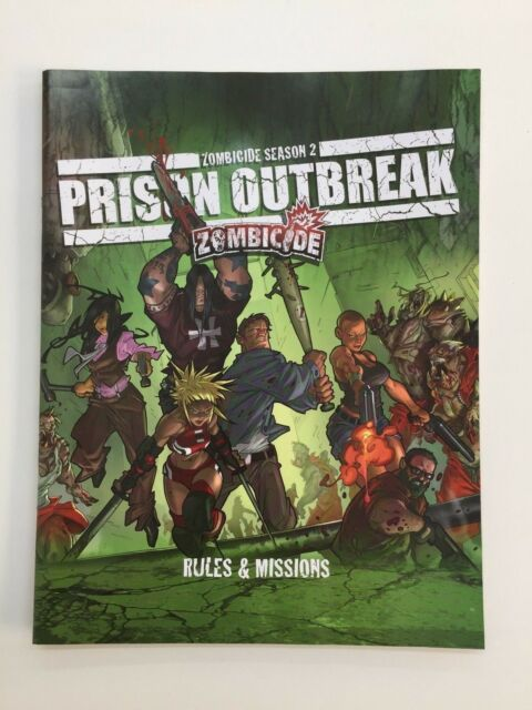 ZOMBICIDE SEASON 2 PRISON OUTBREAK RULES & MISSIONS RULEBOOK BOOK