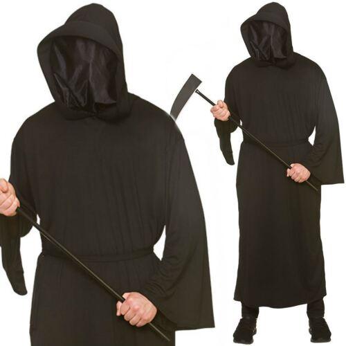 Mens Halloween Phantom Of Darkness Grim Reaper Ghoul Outfit Fancy Dress Costume