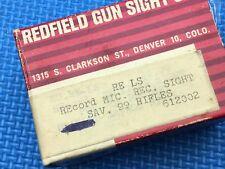 Redfield Receiver Peep Aperture Sight RE LS Savage 99 Rifles