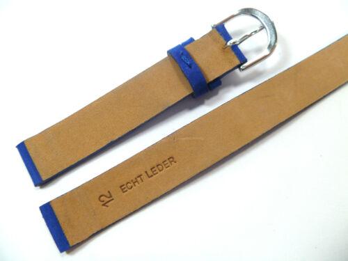 12 mm Bleu Enroulé Bracelet Montre à Enrouler de Cuir 1230