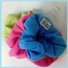 Xmas Neon Color Hair Band Scrunchies Pack 3 Neon Colours Pink Green & Blue