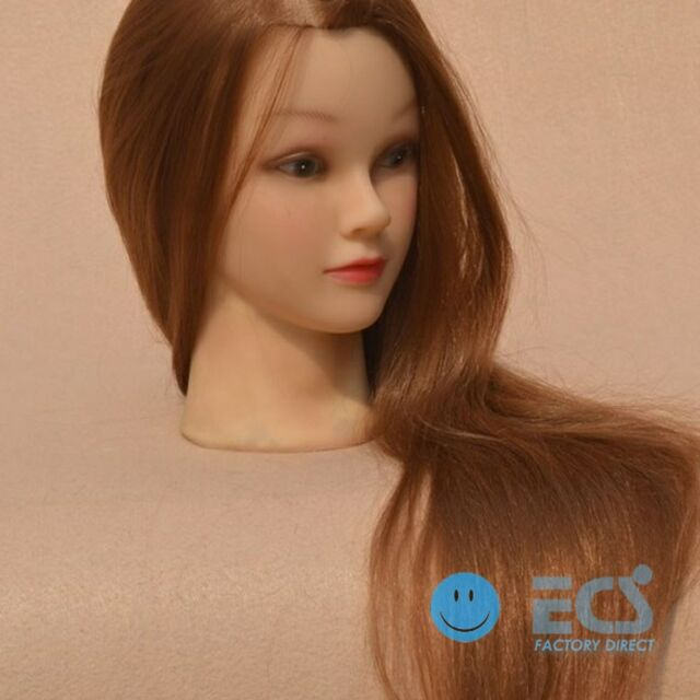 """27"""" - S Hair Cosmetology Salon Brown Blonde Real Training Human Head Mannequin"""