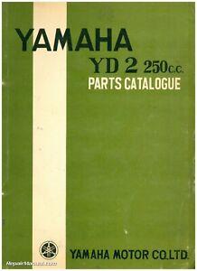 1958 1959 1960 Yamaha Yd2 250cc Two Stroke Motorcycle Parts Manual Ebay