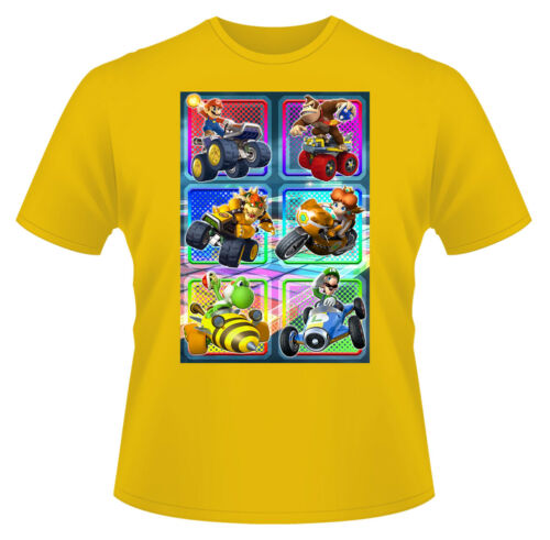 Mario Kart Gaming T-Shirt Boys Girls Kids Age 3-15 Ideal Present