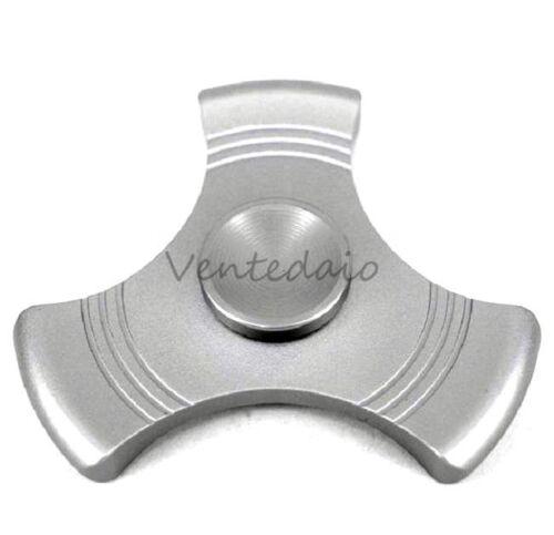 Fidget hand spinner tri cote metal aluminium anti-stress EDC adhd new 17