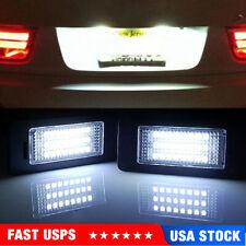 2pcs Led License Plate Lights White Fit For Bmw E60 E90 F30 E92 345 Series