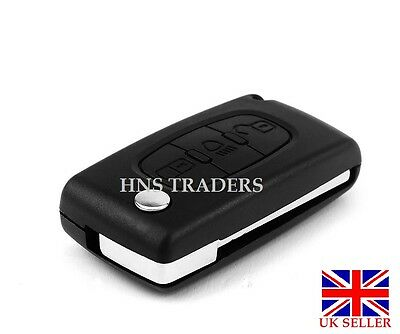 3 Button Flip Key Fob Case Blade For Citroen C3 C4 C5 C6 Picasso *with LOGO* A27