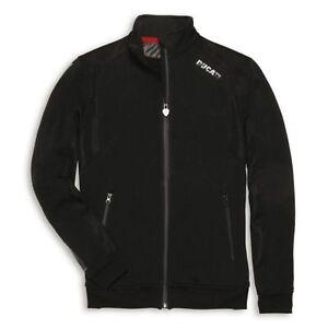 Ducati Corse Logo Sweatshirt Damen Sweatjacke Sweater Hoodie SALE schwarz